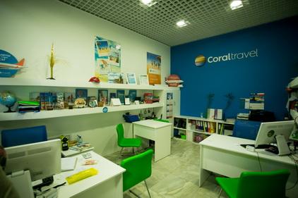 Тур-агенство Coral Travel расположен в ТК Электра в Санкт-Петербурге