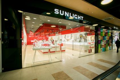 Магазин SUNLIGHT расположен в ТК Электра в Санкт-Петербурге