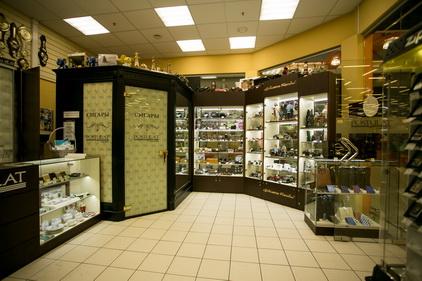 Вид изнутри в магазине Tabakpodarki