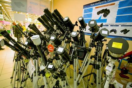 Телескоп в магазине Четыре Глаза