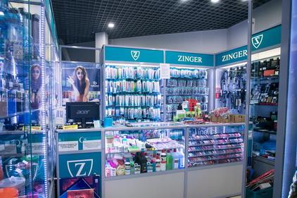 Магазин Zinger расположен в ТК Электра в Санкт-Петербурге