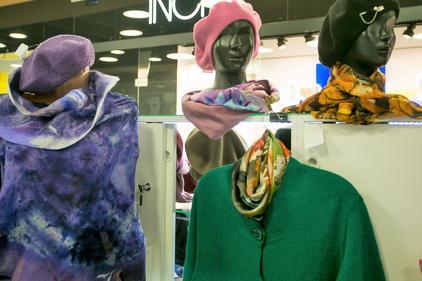 Шапки, кофты и шарфи в магазине Русские коллекции