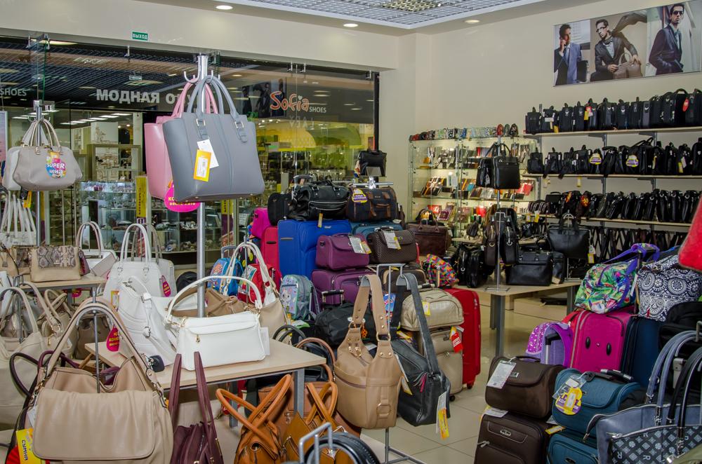 Ассортимент сумок в магазине 1000 и одна сумка